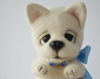 Puppy Laky. Needle Felted toy.