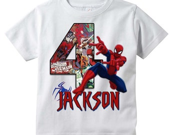 429d717e Spiderman T-shirt | PERSONALIZE | Add Name/Age | Tee Designs | Toddler,  Youth, Adult Sizes | Birthday party