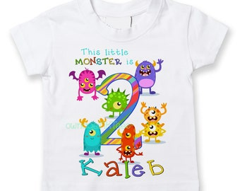 fcdd47ca Little Monsters T-shirt | PERSONALIZE Tee | Add Name and Age | Toddler,  Youth, Adult Sizes | Fun Gift | baby | CUTE