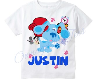 New Blues Clues Personalized Birthday T Shirt Party Favor Birthday Gift Present