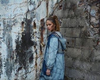 Reversible denim jacket unisex