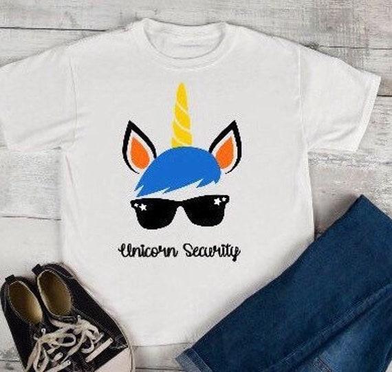 303214517 Boys Unicorn Security Shirt/ Unicorn kids shirts/ family   Etsy