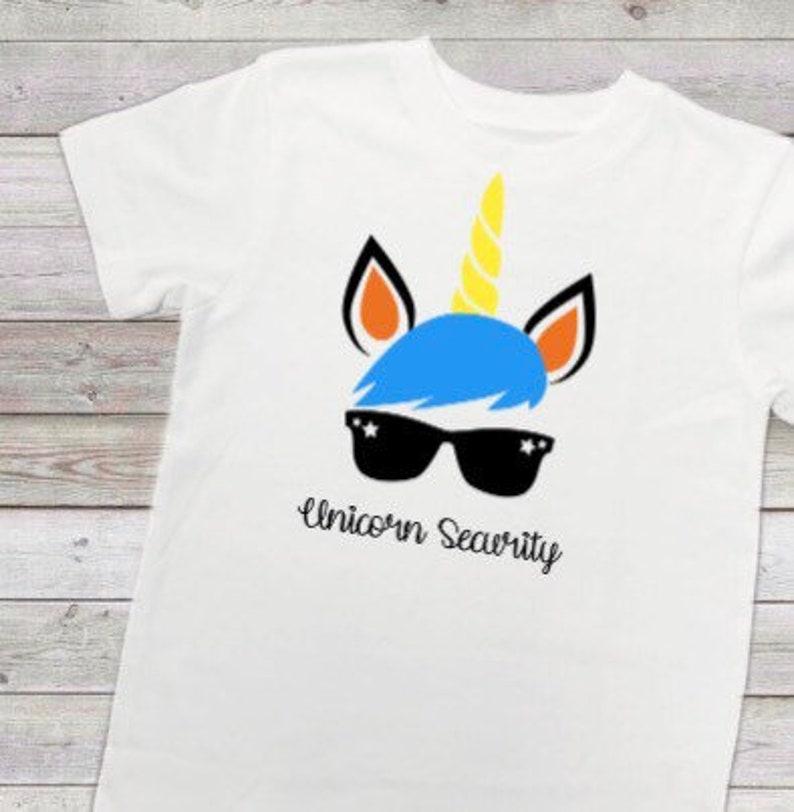 1113f6393 Unicorn Security ShirtFunny Ring Security shirt for boys   Etsy