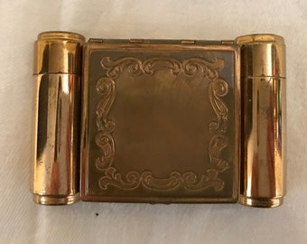 1940s Majestic Compact with lipstick and perfume compartments