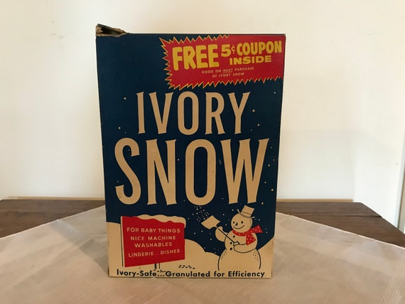 1950s Ivory Snow Detergent Box Regular Size Opened And Etsy