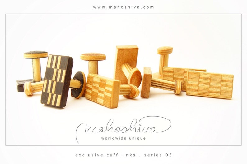 wooden cuff links wood alder maple handmade unique exclusive limited jewelry mahoshiva k 2017-42