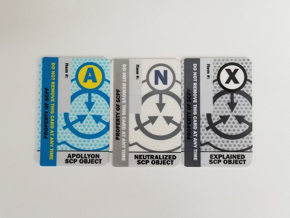 SCP Foundation ID Cards - Object Class