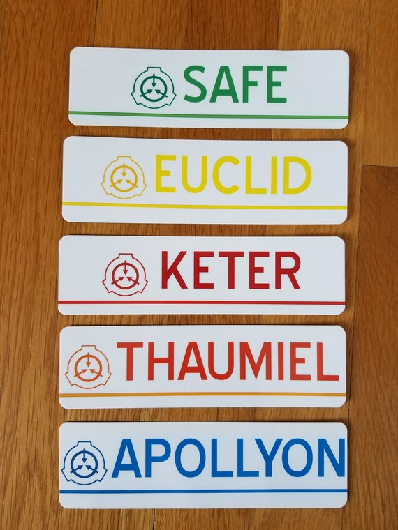 SCP Foundation Object Class Stickers