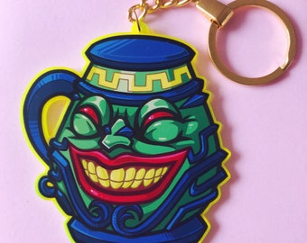 Pot Of Greed Keychain Tokens Light-Lime Yu-Gi-OH