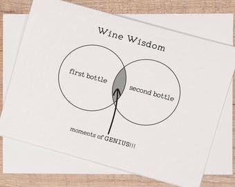 Wine Funny Birthday Card