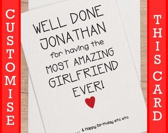 Boyfriend Birthday Day Card For Him Funny