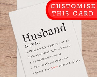 Birthday Card Husband