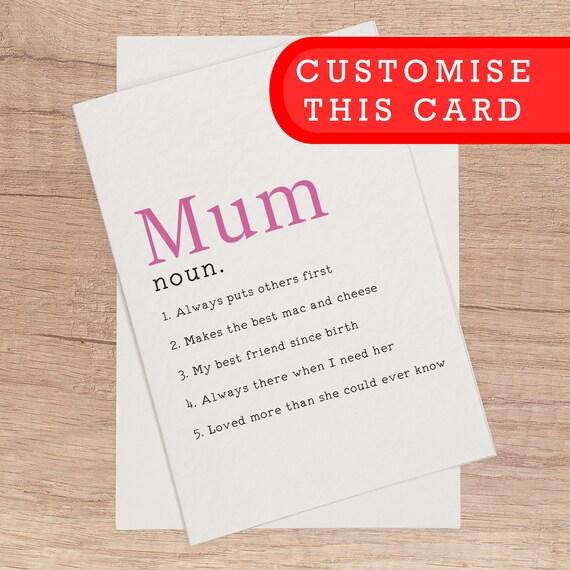 Geburtstagskarte Schreiben Mama.Mama Geburtstagskarte Benutzerdefinierte Karte Mama Definition Lustige Geburtstagskarte Fur Personalisierte Mama Mama Mama Mutter Individuell