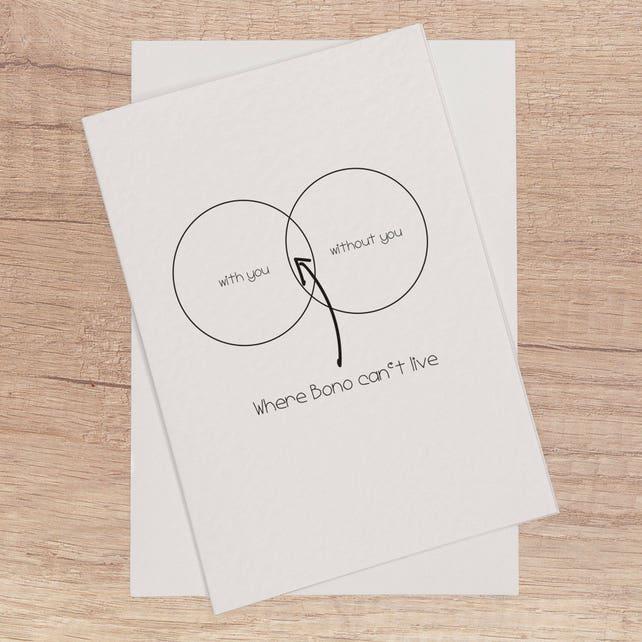 U2 Funny Card Funny Birthday Card For Boyfriend Husband Etsy