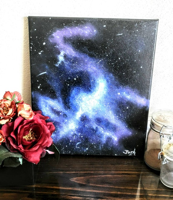 Galaxy Painting Unique Home Decorate Ideas Acrylic Etsy