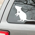 Rat with heart cutout - vinyl decal sticker *FREE SHIPPING*