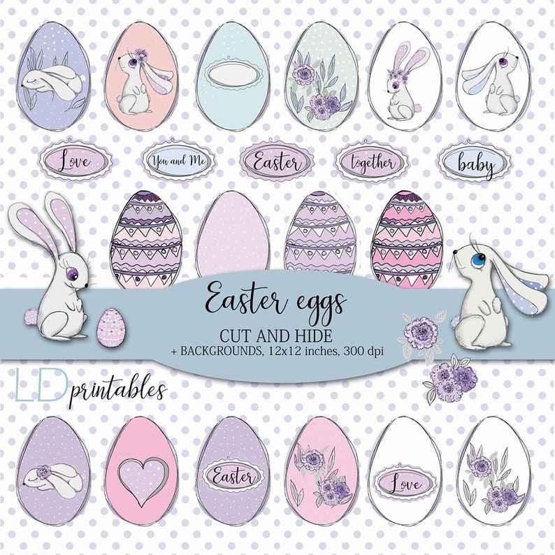 Easter games for kids Easter printable decoration Easter image 0