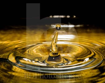 Water Drop | Water Photo Art | Nature Lover Gift | Fine Art Photography | Personalization | BDPhotoShoppe | Home Office Decor