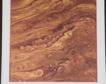 Brown Acrylic Pour painting