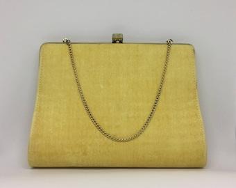 Yellow Raw Silk Vintage Purse