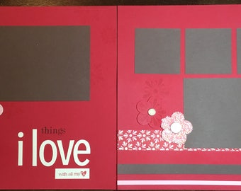 Scrapbook Spread - Things I Love With All My Heart