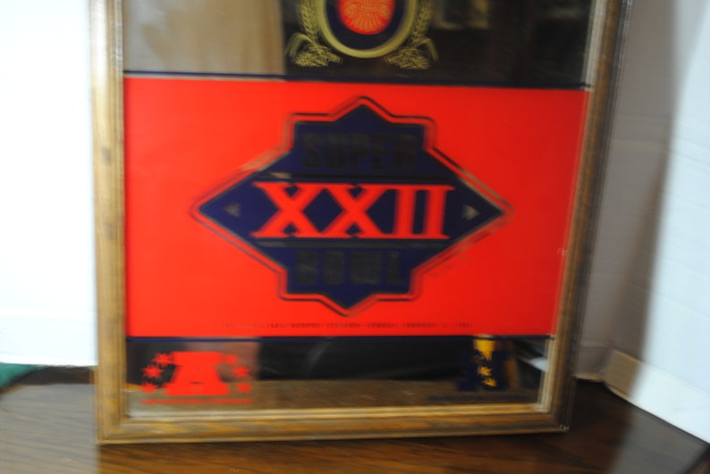 Rare Miller Lite Super Bowl XXII Advertising Mirror 21 in by 17 in