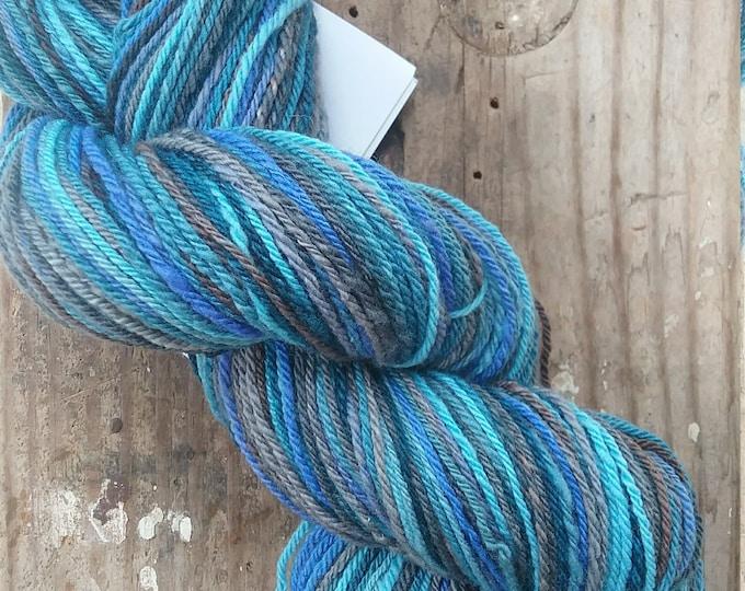 Glacier handspun yarn, 260 yards, DK weight, handdyed fiber