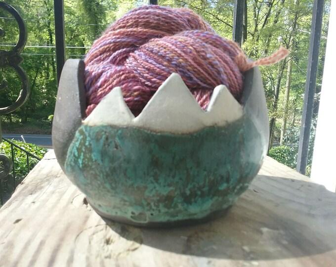 Ceramic yarn bowl, Mountains