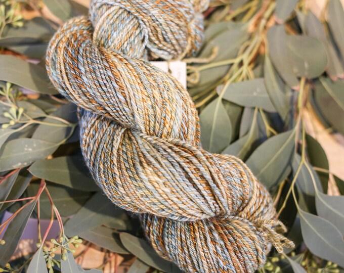 Hidden Woods handspun yarn for knitting, crochet, weaving, Sport weight, handdyed fiber