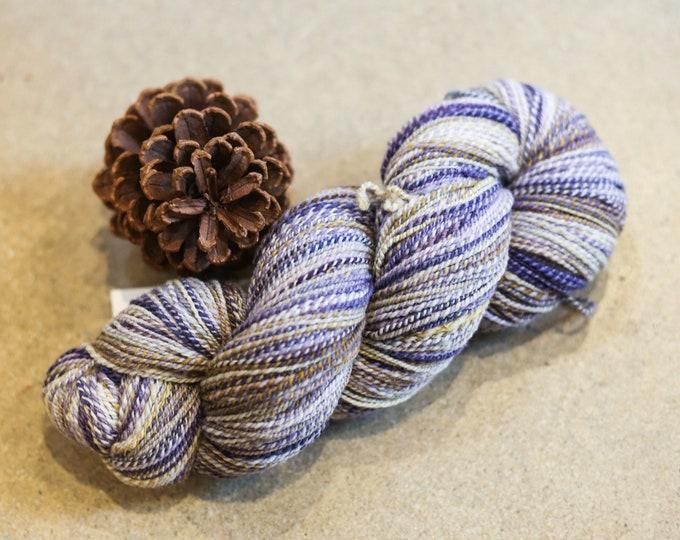 Poppet handspun yarn for knitting, crochet, weaving, Fingering weight, handdyed fiber