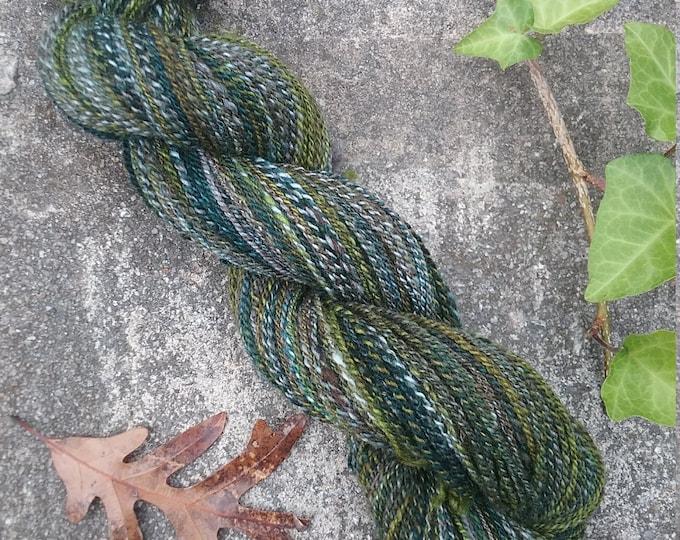New Growth handspun yarn from handdyed fiber for knitting, crochet, weaving
