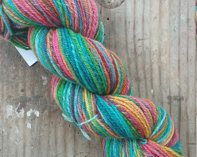 Scottish Landscape handspun yarn, 230 yards, DK weight, handdyed fiber