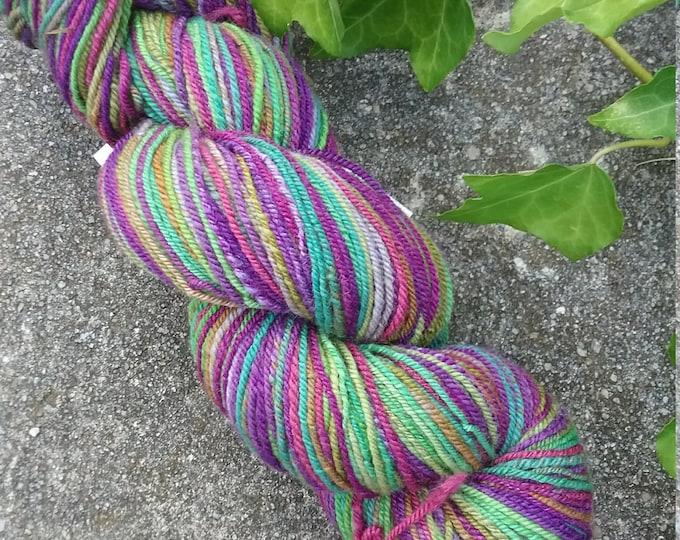 Alice W handspun yarn for knitting, crochet, weaving, Sport weight, handdyed fiber