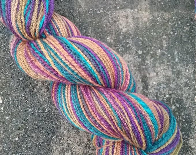 Transmutations handspun yarn for knitting, crochet, weaving, DK weight, handdyed fiber