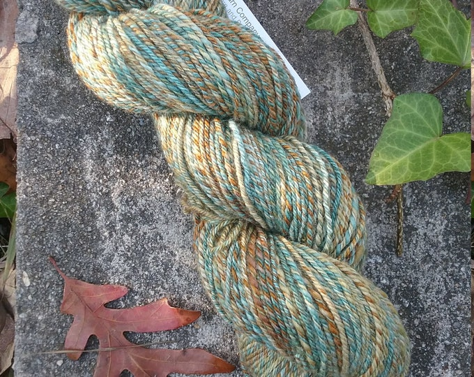 Golden Light handspun yarn for knitting, crochet, weaving, Sport weight, handdyed fiber