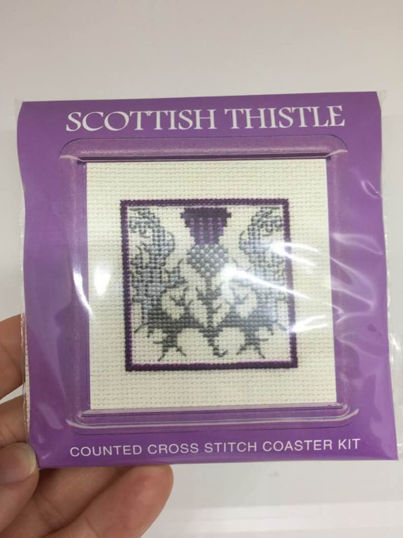 Victorian Lavender Textile Heritage Counted Cross Stitch Kit Coaster