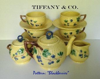 Vintage Tiffany & Co. Blackberries 11 Piece Tea Set