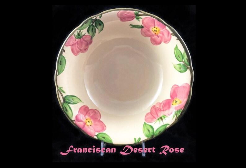 England Stamp Vintage Franciscan Desert Rose 9 inch VegetableServing Bowl Retired