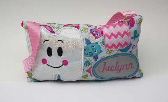 GIRL/'S PINK TOOTH FAIRY PILLOW KEEPSAKE WITH TOOTH POUCH