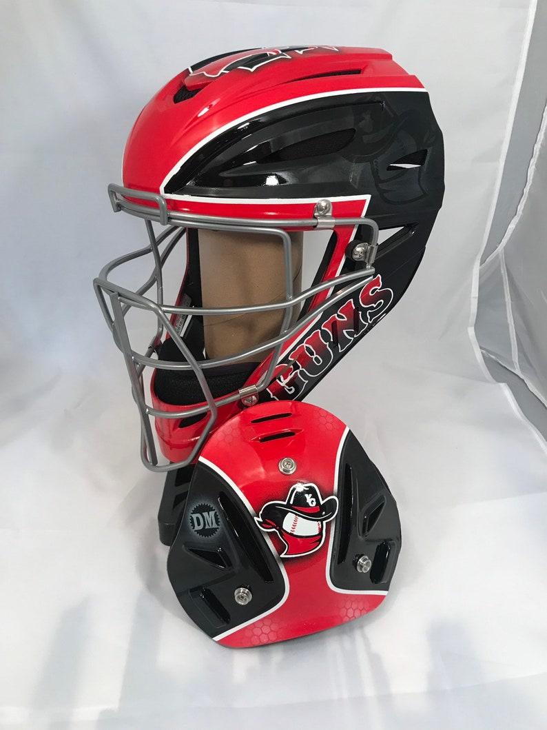 Custom Painted Catchers Helmets Etsy
