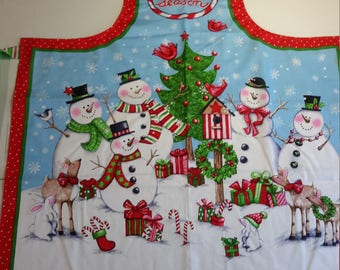 Tis the Season Snowmen and Critters Apron