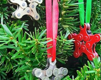 Christmas Ornament Star, bike chain