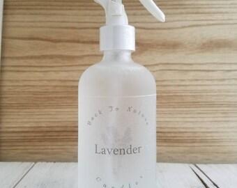 Lavender Air Mist Spray, 8oz frosted glass bottle, room air freshner,8fl oz net wt