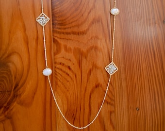 Millennial Pink and Gold Necklace