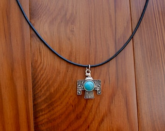 Aztec Turquoise Charm Necklace