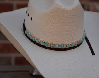 Turquoise/Gold Hat Band