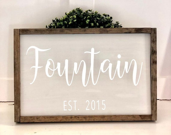 Personalized Last Name Wood Sign | Wedding Gift | Bridal Shower | Anniversary | Family Name | House Warming | Farmhouse Sign | Established