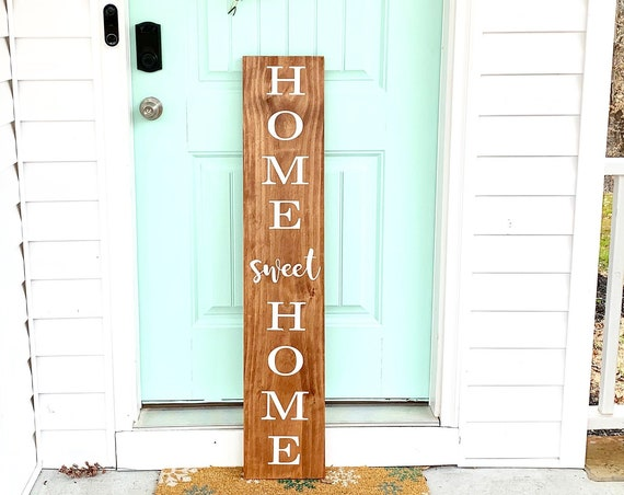 LARGE Front Porch Sign   Home Sweet Home   Customized Front Porch Sign  