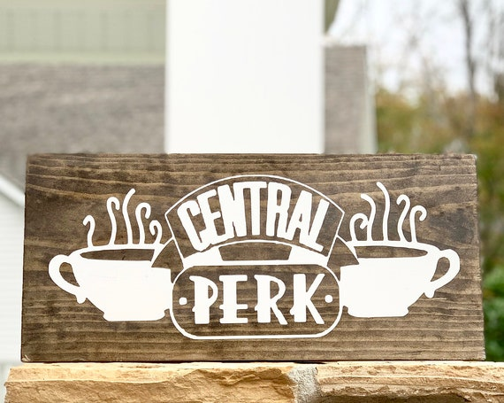 Central Perk | Coffee Bar Sign | Framed Wood Sign | Farmhouse Decor | Christmas Gift | Rustic Wood Sign | Gift for her