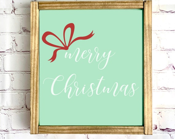 Christmas Wood Sign | Merry Christmas | Framed Wood Sign| Christmas Decor | Holiday Decor | Rustic | Farmhouse | Happy Holidays